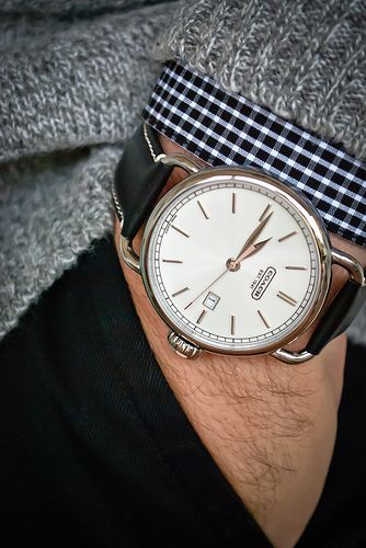 """17 best images about watches leather driving gloves johnandmario """" coach men s classic watch """""""