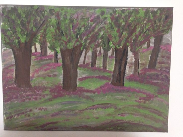 Tree forest painting by me!