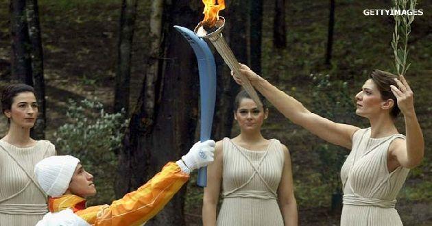 Ensayan encendido de llama olímpica
