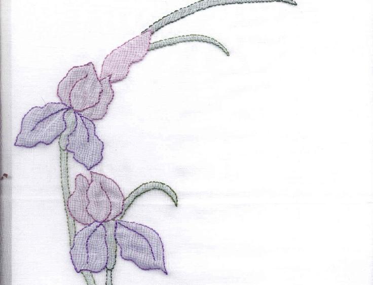 Iris Shadow Embroidery