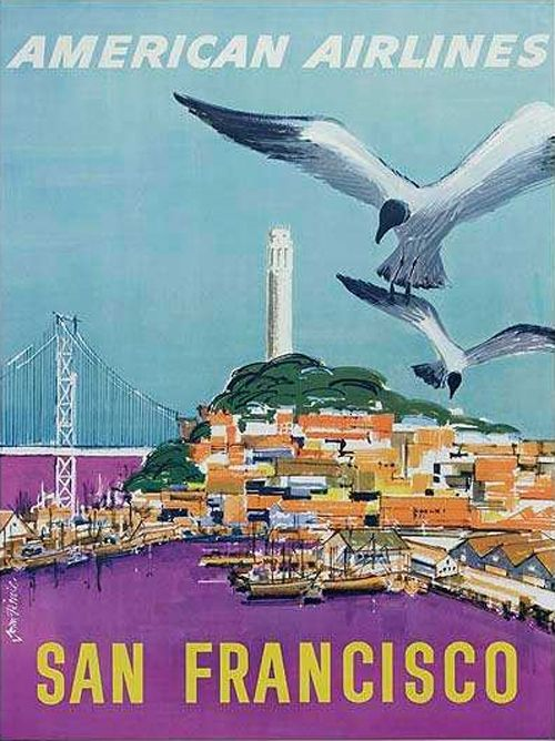 Beautiful Vintage San Francisco Travel Posters