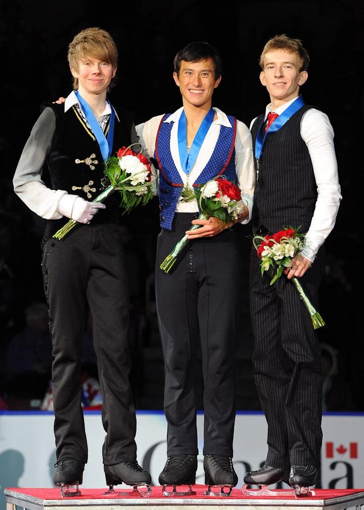 2013 Canadian Tire National Figure Skating Championships Senior Men's Podium  1. Patrick Chan  2. Kevin Reynolds  3. Andrei Rogozine skatecanada.ca
