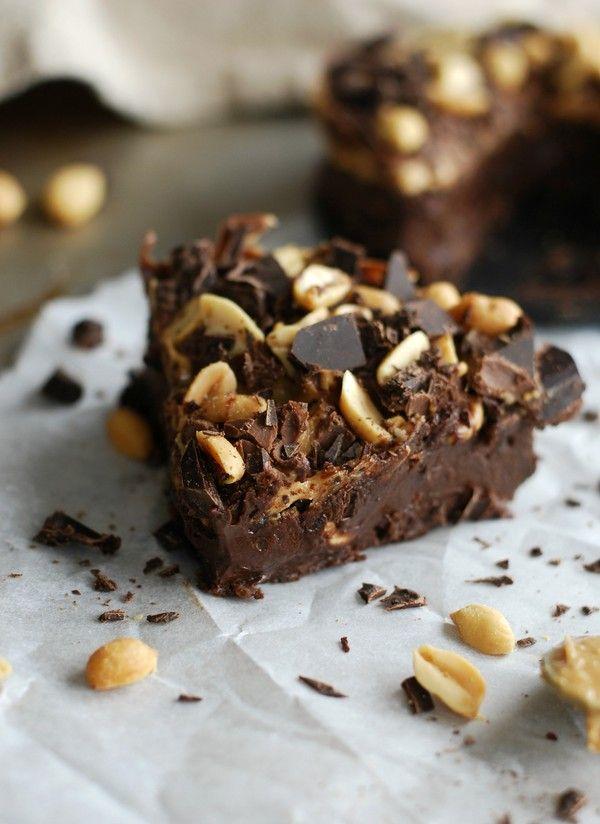 Hälsosam Snickerskladdkaka, glutenfri, utan tillsatt socker //Baka Sockerfritt