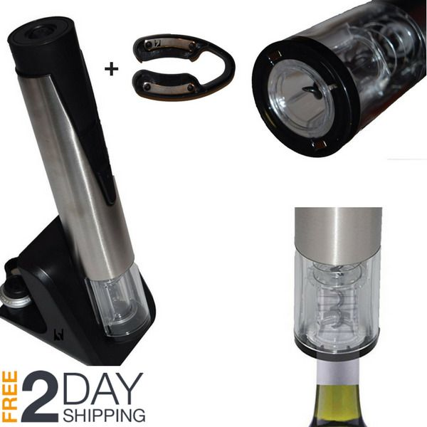 Rechargeable Electric Wine Opener Corkscrew Remover Electric Wine Bottle Opener #MotorCityHomeProducts