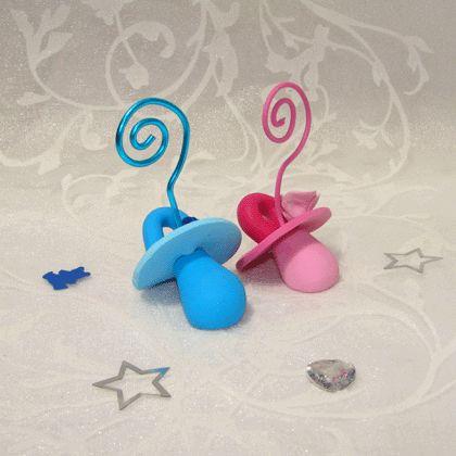 Way 2 Say - Duo de Porte-Photo Tétines Bleu/Rose
