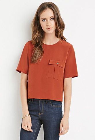 Boxy Pocket Top | Forever 21 - 2000161832