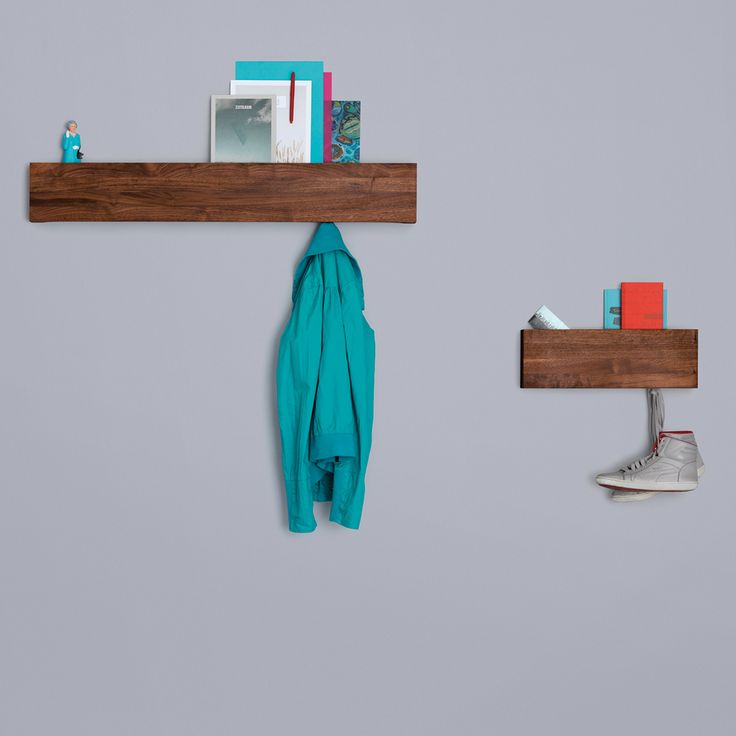 Shop SUITE NY for the HIDE and PARK shelving designed by Kaschkasch for Zeitraum and more wall mounted shelving, wood shelving, and wood accessories.