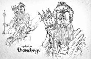 raajinikanth as dronacharya