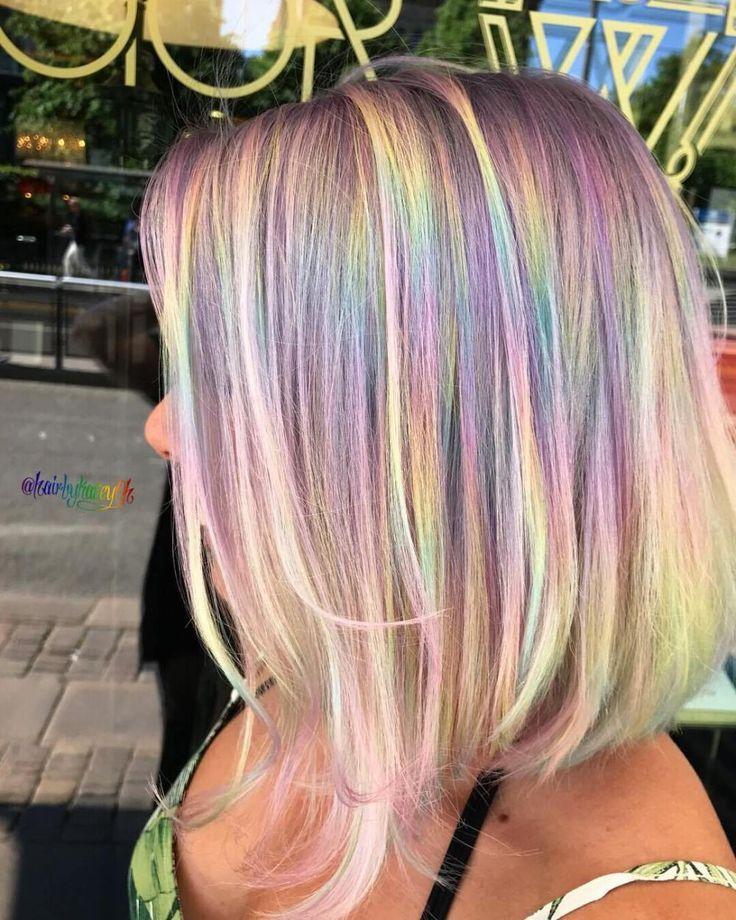 Holografisches Haar nimmt die Kunst des Selbstausdrucks über den Regenbogen auf – #Ausdruck #Holografischer #Regenbogen #nimmt – #Neu