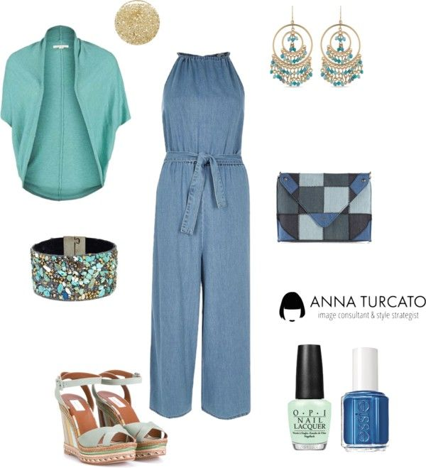 The jeans jumpsuit