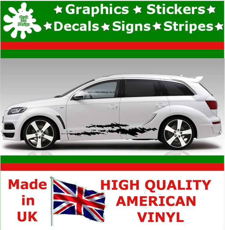 """10"""" High Car Side Stripes Graphic Decal Vinyl Stickers Van Auto Rally Race F1_94"""
