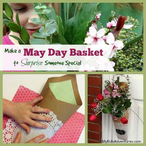 How to make a May Day basket filled with flowers to celebrate Springtime and then go a-Maying in your community to bring joy to someone's da...