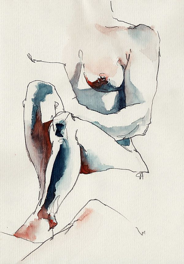 Sunga Park→Nude drawings in Seville, 2014