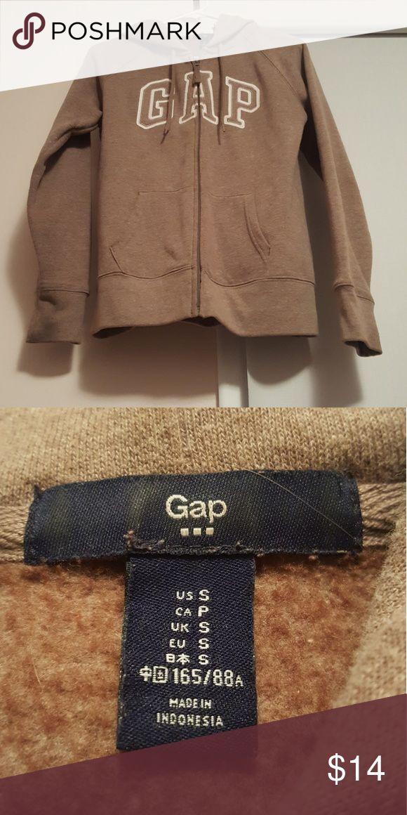 Gap Zip-Up Hoodie Tan Gap Zip up hoodie! Good conditon - no stains or rips. GAP Tops Sweatshirts & Hoodies