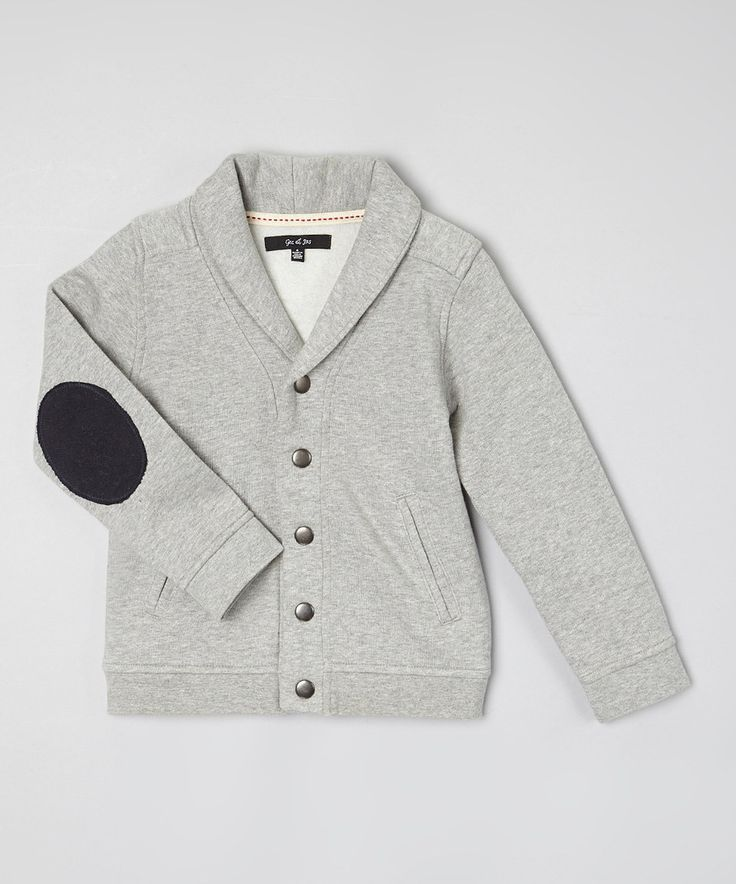 This GIL & JAS Gray Heather Elbow Patch Cardigan - Toddler & Boys by GIL & JAS is perfect! #zulilyfinds