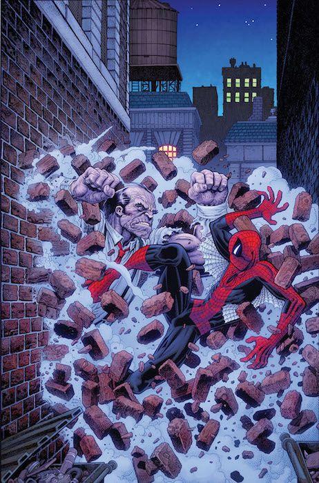 """El Asombroso Spiderman 107Con las partes dos y tres de """"Espiral"""", la aventura que supone el regreso a casa de Gerry Conway. La mecha se ha encendido en el mundo criminal de Nueva York, mientras Spidey y El Espectro tratan de contener las llamas. Pero, ¿qué ocurre cuando Cabeza de Martillo entra en combate? Y además, siguen las aventuras de Seda y Spider-Gwen."""
