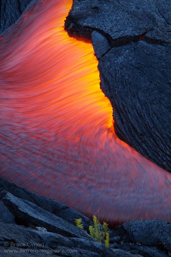 ~~Lava Bleed ~ Kalapana lava flow, Hawaii by Bruce Omori~~