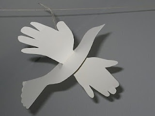PAK-ART Alaska: Craft for kids - Helping Hands Dove Craft