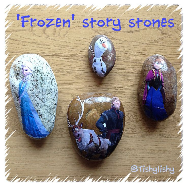 I made these story stones to go along with the 'Frozen' theme