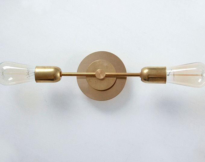 Aureola Brass Double Wall Sconce
