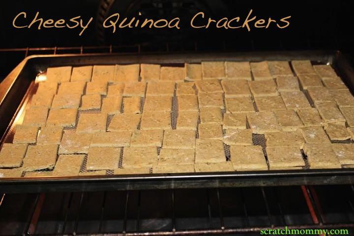 Cheesy Quinoa Crackers, yumm!