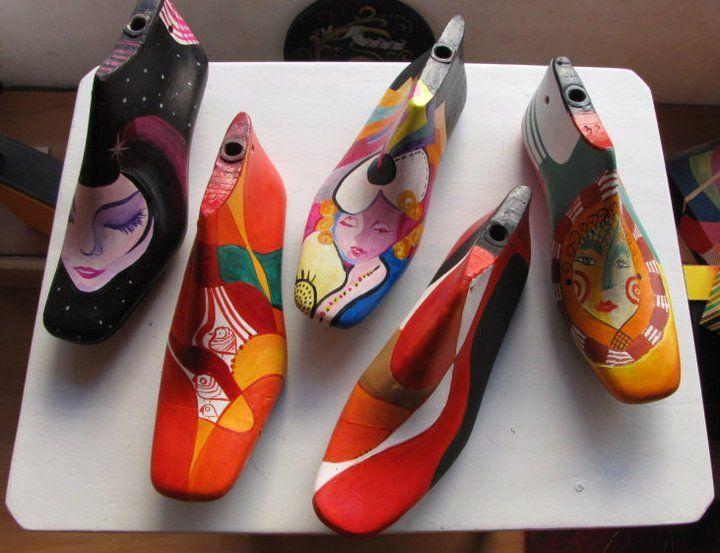 Resultado de imagen para hormas de zapatos intervenidas