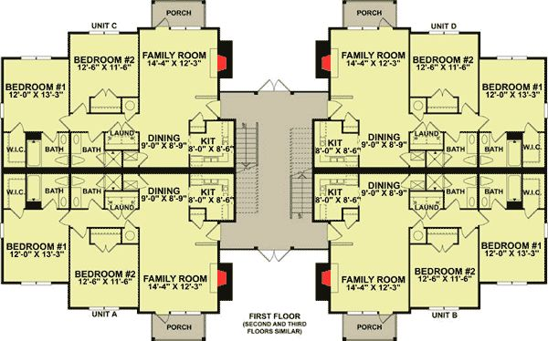 plan 83120dc 12 unit apartment building plan house