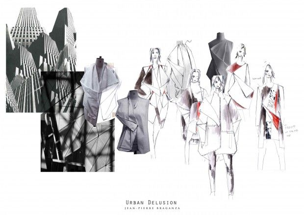 Fashion Sketchbook - architectural fashion design - fashion drawings & draping; fashion portfolio // Kanrawee Vechviboonsom