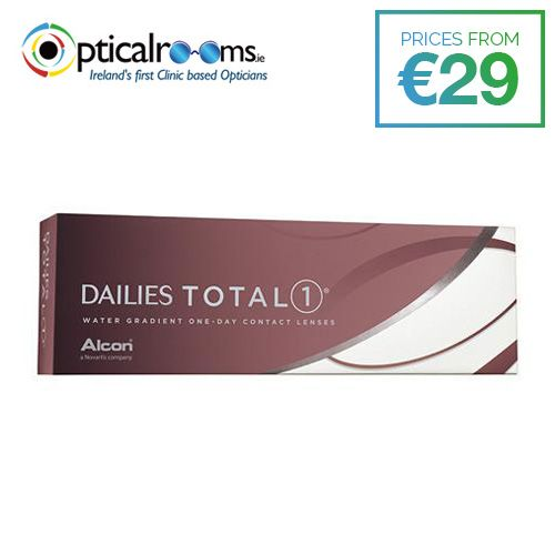 Dailies Total1   Water Gradient Contact Lenses  The world's first and only water gradient contact lenses.In a survey, eye care professionals rated DAILIES TOTAL1® Contact Lenses highest in overall performance.Ideal for people looking for a highly breathable daily disposable contact lens, for white, healthy-looking eyes.