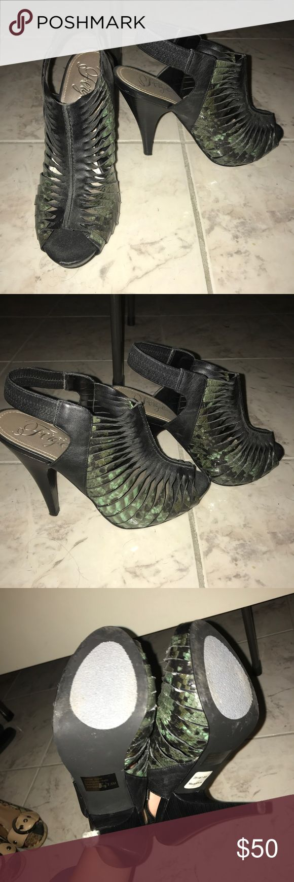 Size 7.5 fergie shoes Only worn around the house Fergie Shoes Heels