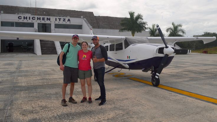 FlyCozumel.com By Airplane from isla de Cozumel to Chichen Itza. A 45 minute flight only! The best way to see the Mayan Ruins.#Archeological #Site #ChichenItza #Cozumel #Airplane #guide #private #flytours
