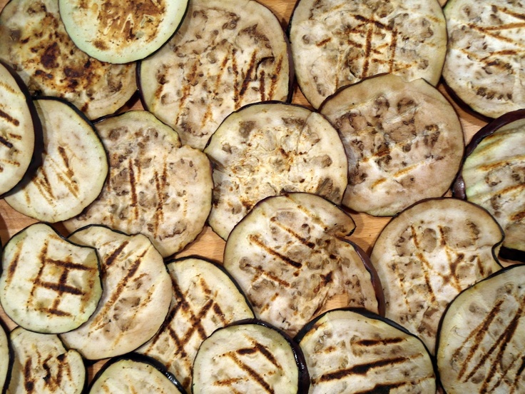 Marynowane grillowane bakłażany / Marinated grilled aubergine   Tapas de Colores
