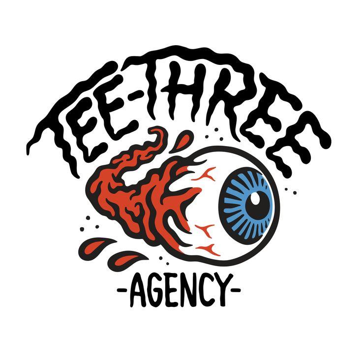 Tee-Three Agency logo design  www.totcph.com