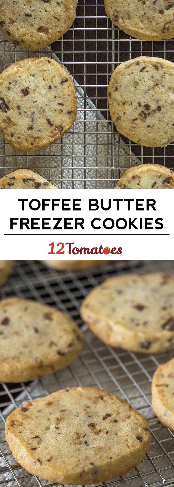 Toffee Butter Freezer Cookies