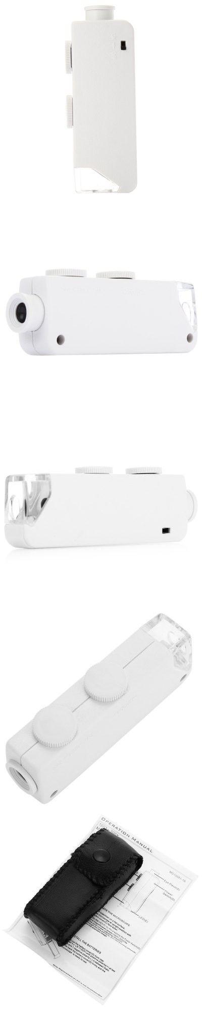 Mini 160x - 200x Zoom Lens Pocket Microscope with LED Light