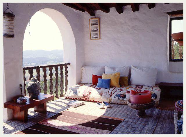 Killer bohemian porch in India - An Indian Summer