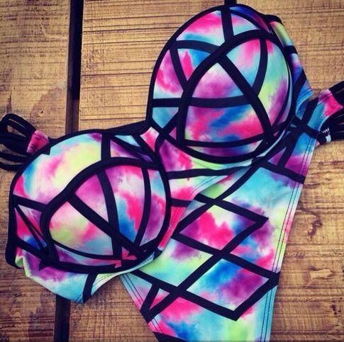 [ $19.00 ] 8461379 Sexy Fashion Print Beach Bikini swimwear Swimsuit Beach Fashion, Cute Bikini, Sexy Bikini