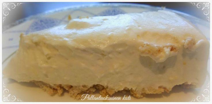 Pullantuoksuinen koti: Sitruuna-valkosuklaatuorejuustokakku - unelmaisen hyvää ja ilman liivatetta Lemon-White chocolate cake