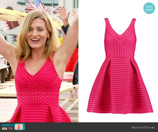 Paige's pink eyelet striped dress on Royal Pains.  Outfit Details: https://wornontv.net/58385/ #RoyalPains  Buy it here: http://wornon.tv/36699