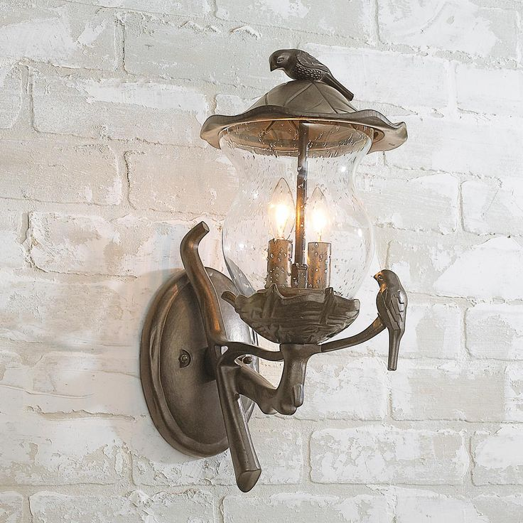 Birds on Branch Outdoor Light  My style  Outdoor