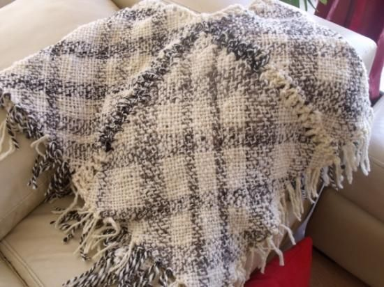 poncho artesanal poncho lana oveja 100% telar cuadrado