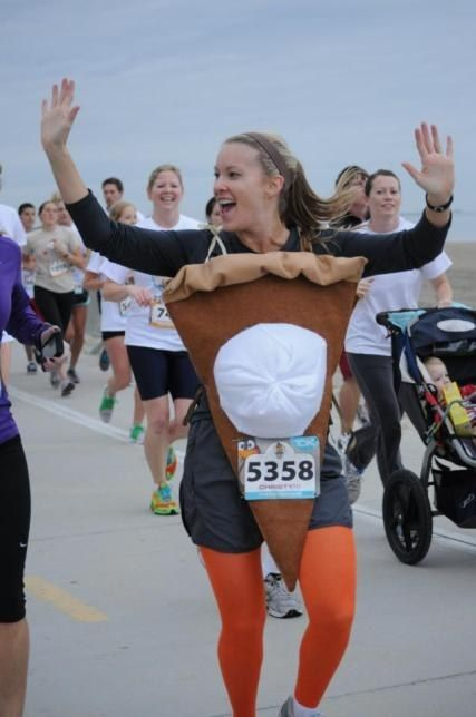 Pumpkin Pie (With Whipped Cream) | The Best And Ridiculous Turkey Trot Race Costumes