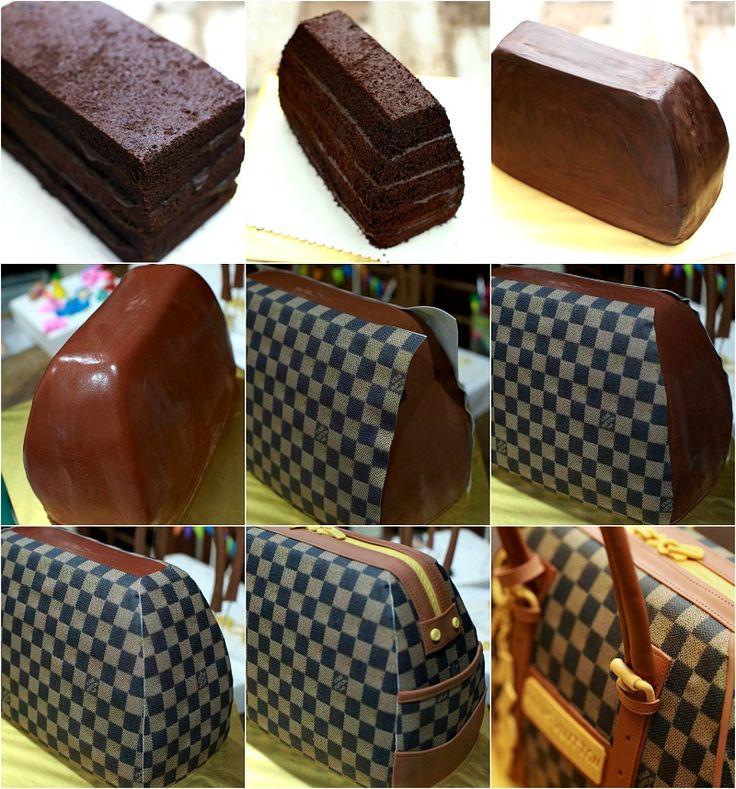 masam manis: Louis Vuitton Bag Cake Tutorial…