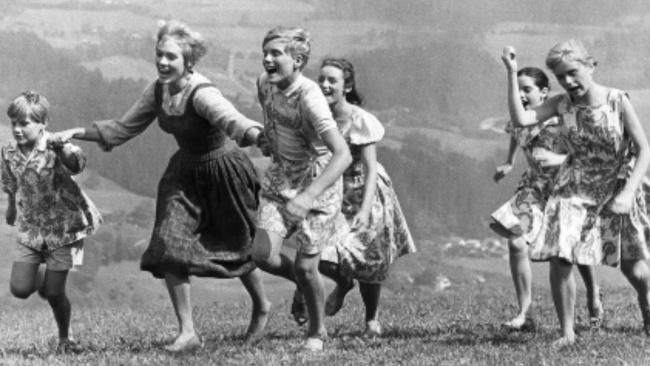 Julie Andrews with the kids on set.Sound of Music star Nicholas Hammond reveals what we never knew about the movie