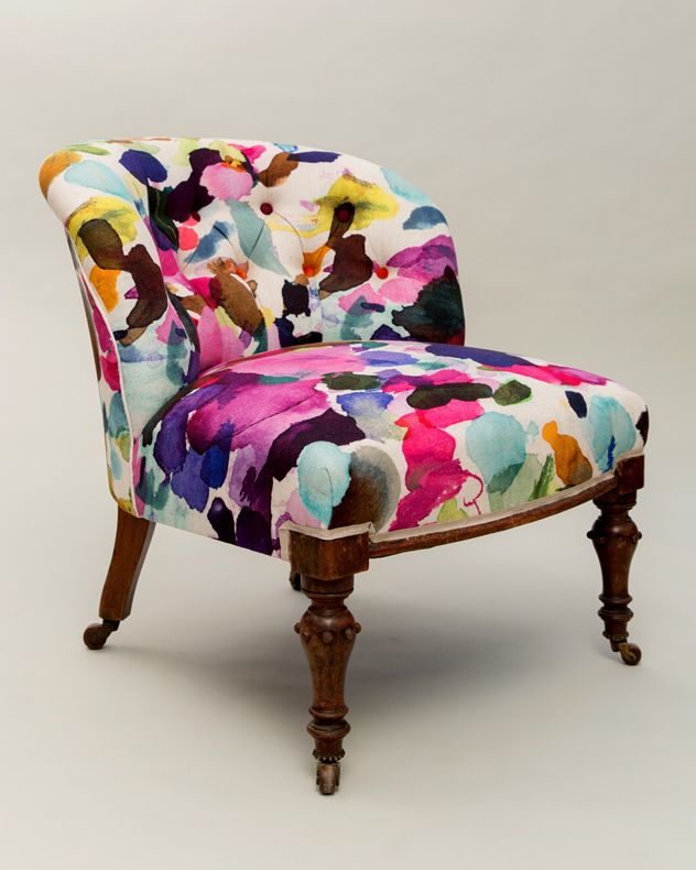 Hannah Stanton The Guardian Weekend Magazine Bluebell Gray Victorian chair