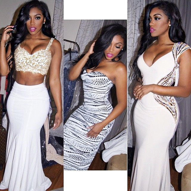 Porsha Williams-Big day on Friday… I'm more excited about this than my wedding day! Help me choose a look to SLAY?? 1, 2 3???? ..Dresses: @lafemmefashion @tonybowls Glam: @indiaalexandramua @gonakedhair #Rhoa #HeyBooBooKitty