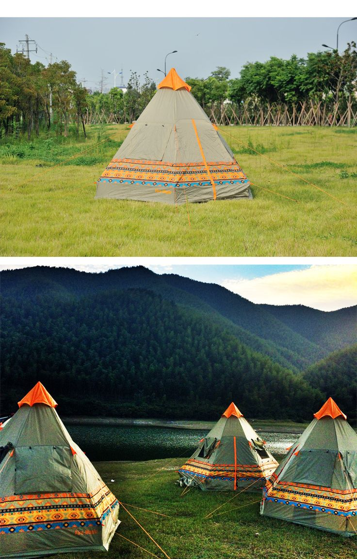 Подлинной почты огня   клен / клен своих пирамида палатка двойные двери 4 человек небо окна дождевой воды купить на AliExpress