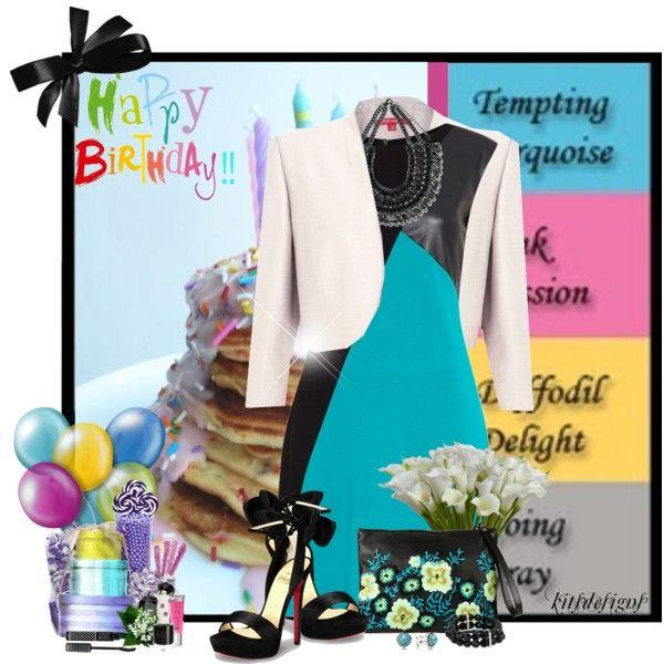 Happy Birthday!! by kitsdesigns on Polyvore featuring Pied a Terre, Jacques Vert, Christopher Kane, Pandora, Zara, Jon Richard, LORAC, Victoria's Secret, Lipsy and Topshop