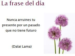 Don't ruin your present for a past that has no future - Dalai Lama-: