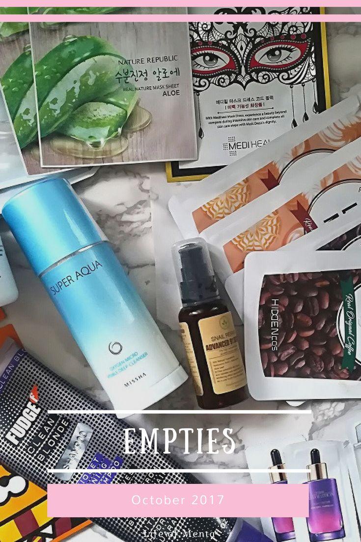 October Beauty Product Empties